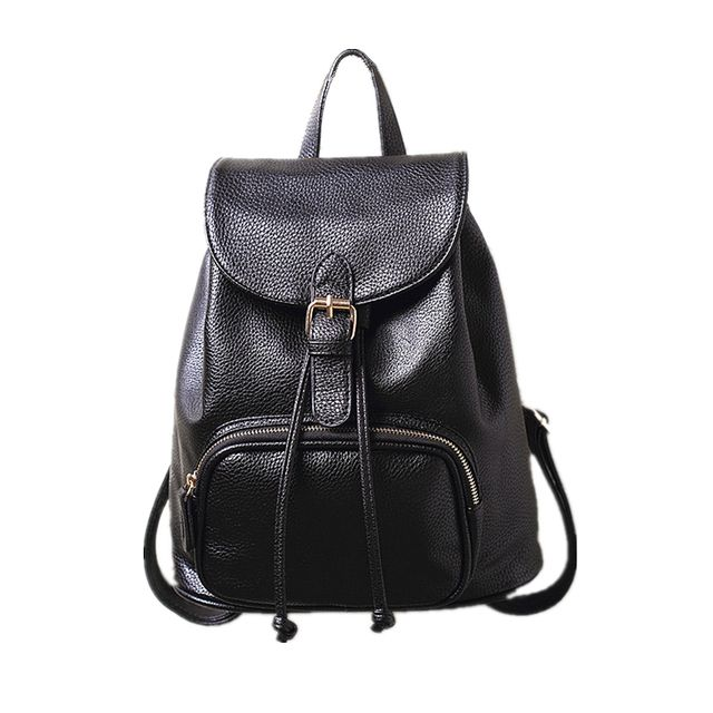 2018 The New Kanken Classic Women Real Leather Backpack Lady Genuine Leather Backpacks Leather School Bag Mochila Free Shipping