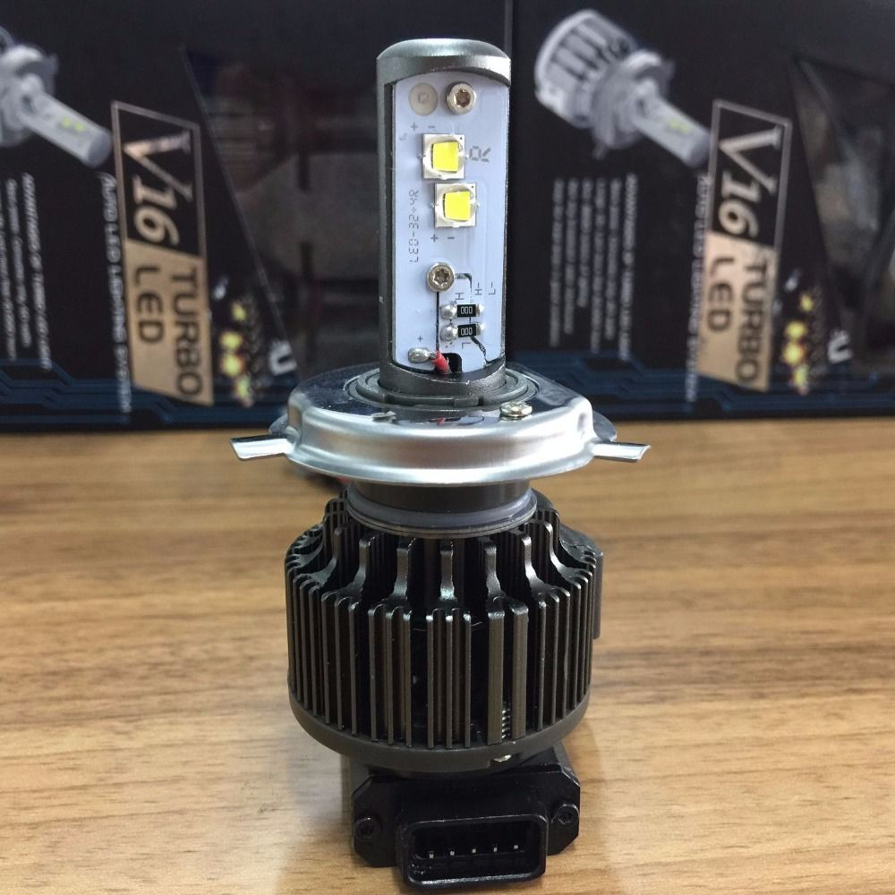 MOSTPLUS 1PC Motorcycle Bike  LED Headlight H4 9003 HB2 Hi & Lo 3600LM 40W 6000K Bulb