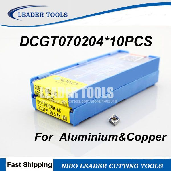 Free Shipping DCGT070204 Carbide Turning Inserts for Lathe Holder Tools SDJCR/SDUCR/SDQCR,Suitable for Aluminium&Copper