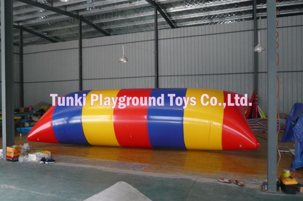 inflatable catapult blob water jumping pillow