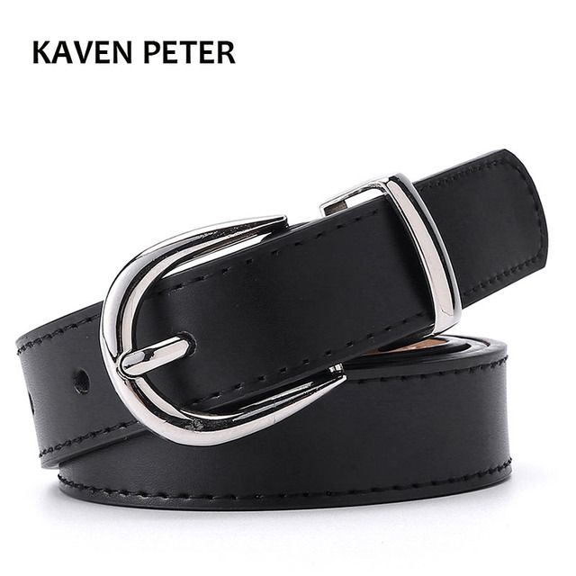 Women Belt Cummerbunds Belts For Women Dress Apparel Lady Belt Waist Pu Leather Black Women's Belts & Cummerbunds Sliver Buckle