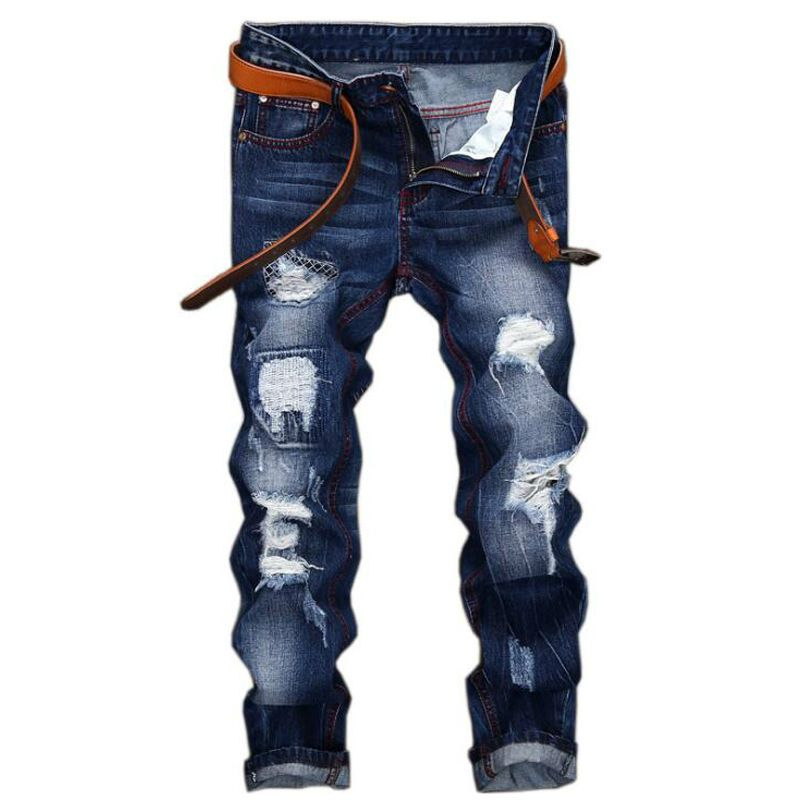 jeans  men high quality men's jeans 2019 new casual robin hole  balmai jeans  biker Straight  homme balmai jeans men