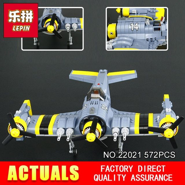 New Lepin 22021 572PCS Technical Series The Beautiful Science Fiction Fighting Aircraft Set Building Blocks Bricks Toys Model