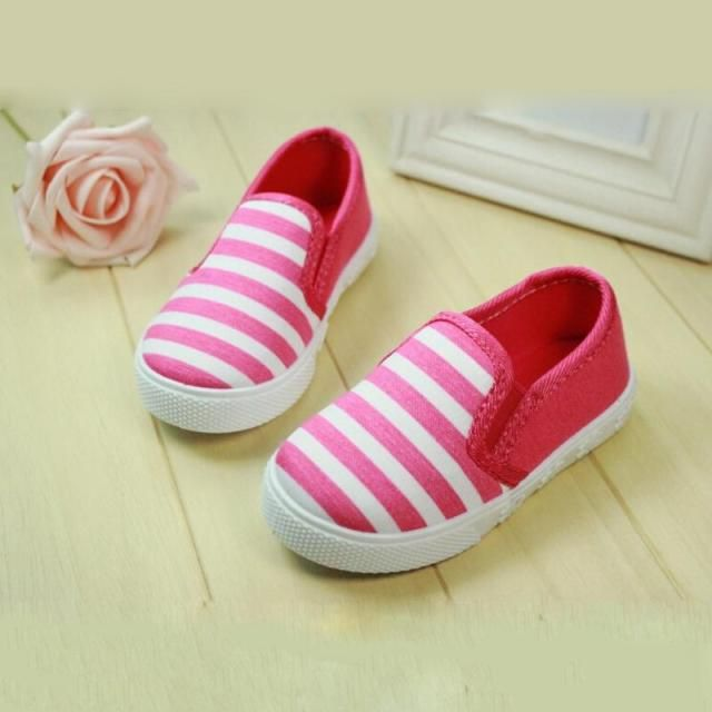 2016 new arrival children shoes boys girls shoes classic stripe canvas shoes girls breathable kids loafers girls boys