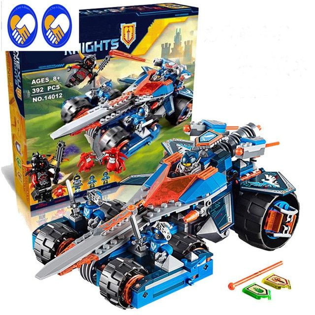 A Toy A Dream 2017 New LEPIN 14012 Blocks Knights Clay's Rumble Blade Jestro Clay  Buildable Compatible Nexus 70315