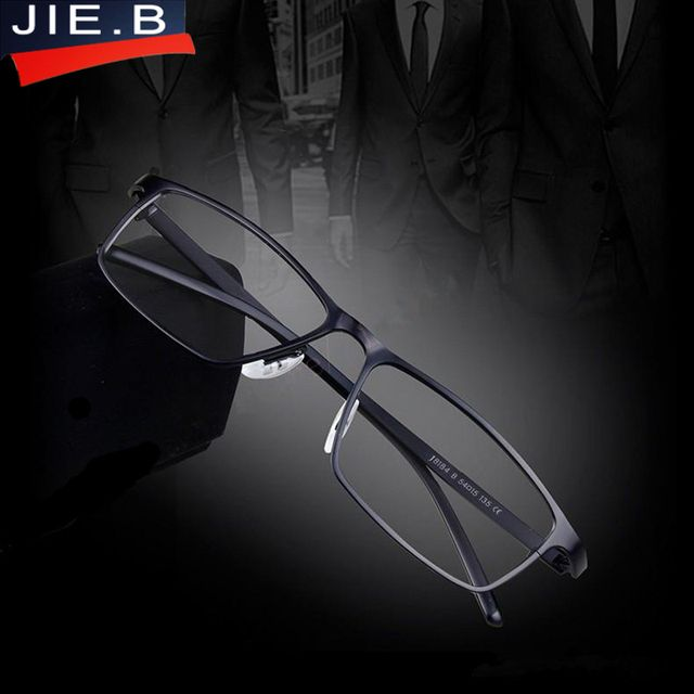 JIE.B Brand  Super light Man Pure Titanium Glasses optical Prescription Eyeglass Frames Business Men Fashion Frame Eyeglasses