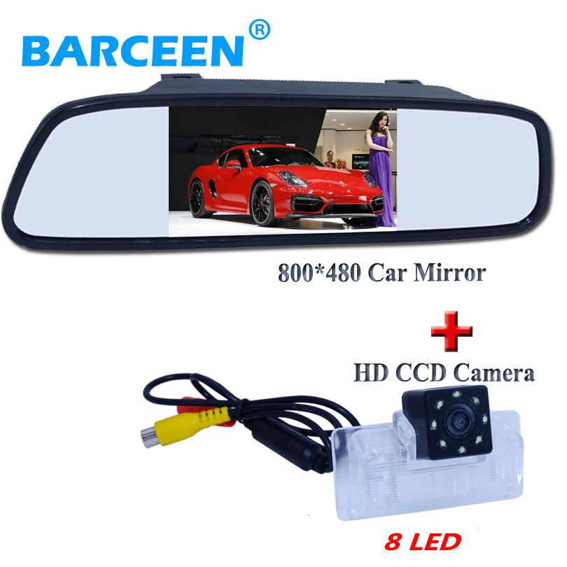 2016 styling car rearview camera bring 8 led lights with sunvisor placement car mirror waterproof for Nissan Altima/TEANA/Sylphy