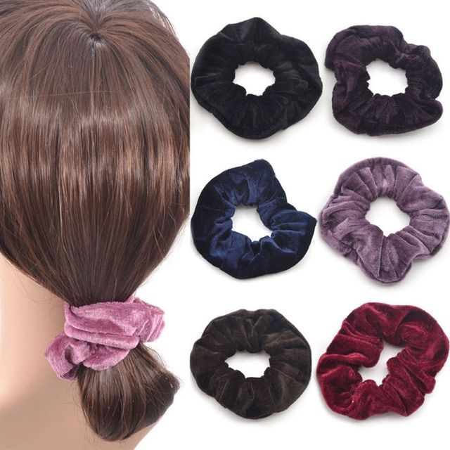 4 Pcs Fashion Cute Women Elastic Accessories Party Hair Scrunchies Ponytail Holder Scrunchy Hairband Hair Accessories 10 Colors