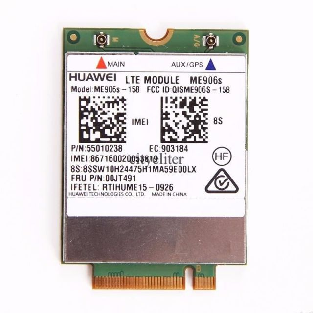 Wireless Adapter Card for HUAWEI ME906S-158 4G LTE FDD EDGE GPRS GSM Module NGFF WWAN Card leovo thinkpad IBM FRU:00JT491