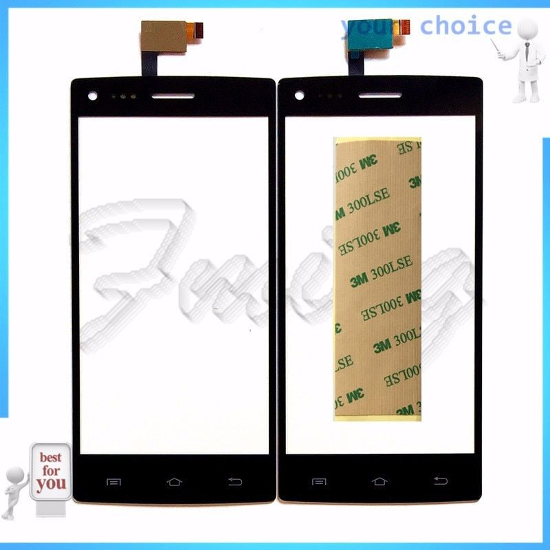 RUBINZHI Phone Touch Panel For DNS S5003 S 5003 Phone Touch Screen Digitizer Front Glass Touchscreen Sensor Replacement+tape