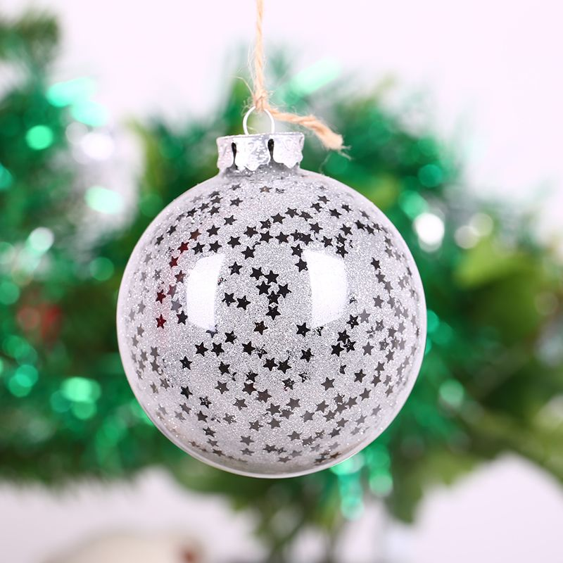 1PC Glass-house handmade mantianxing 8cm diameter glass ball wedding christmas tree decoration house decoration accessories