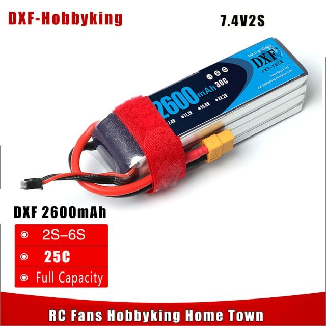 2017 DXF Power Good Quality lipo battery 7.4v 2600mAh  2S 30C For rc helicopter rc car rc boat quadcopter Li-Polymer battey