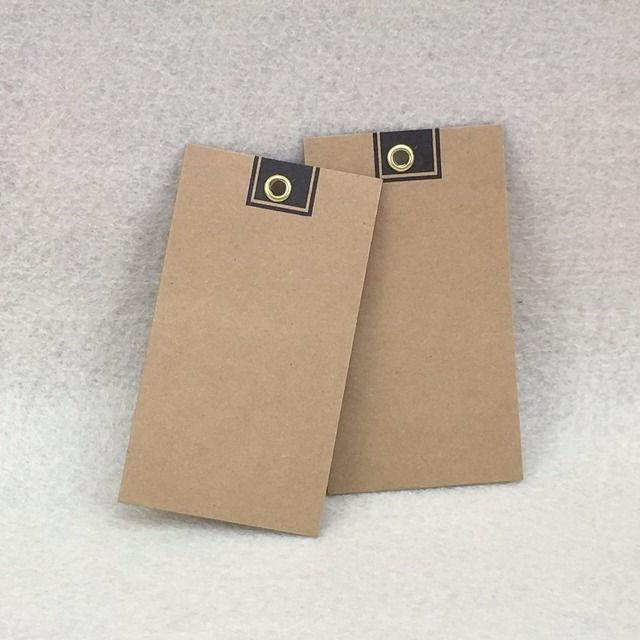 200pcs 9*4cm Kraft paper garment tags Kraft Gift Price Tags  Metal reinforce Hole Hang Metal Ring tags DIY paper cards