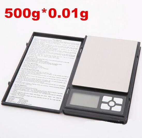 10pcs by dhl fedex notebook digital Scale for gold sterling silver jewelry scales 500g x 0.01g display units pocket scales