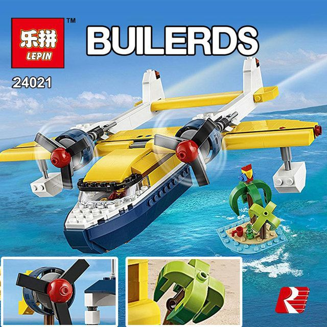 Series 24021 science and technology creative changed triad seaplane adventure Building Blocks Bricks Compatible  toys BOY GIFT