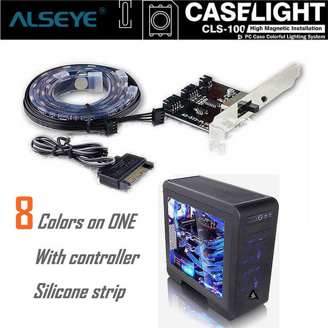 ALSEYE LED RGB strip light With controller case magnetic light strip  (10 pairs) wholesale for agents (More quantity, more chea