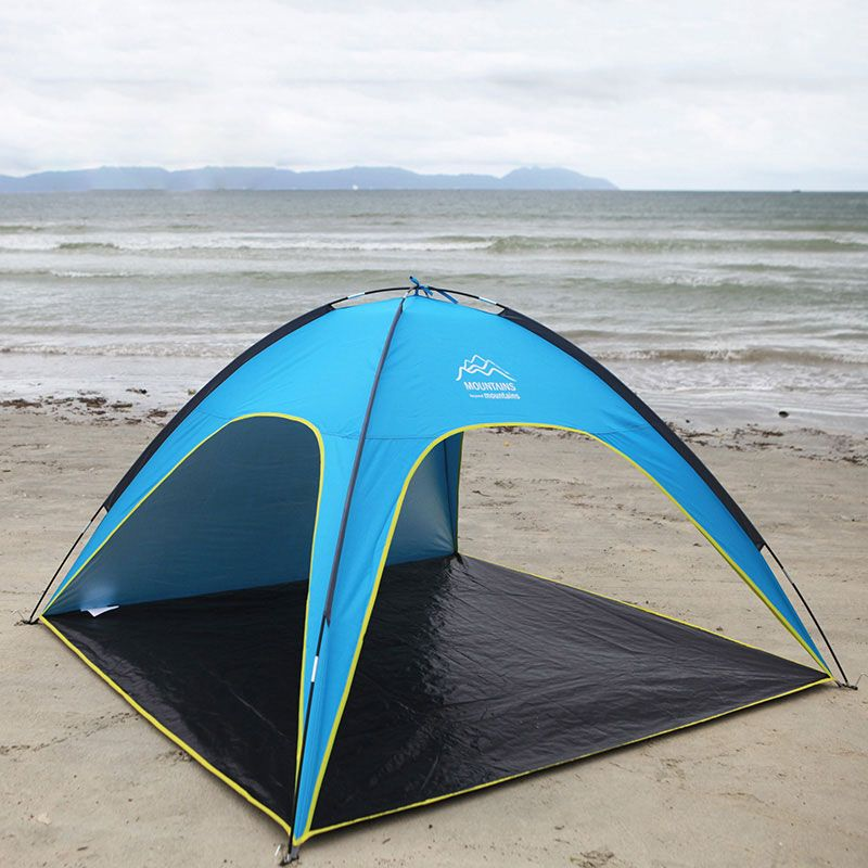 4 People Beach Tent Ultralight Beach Camping Tent Sun Shelter Large Outdoor Folding Awning Tenda Wind-resistant Tente Anti-UV