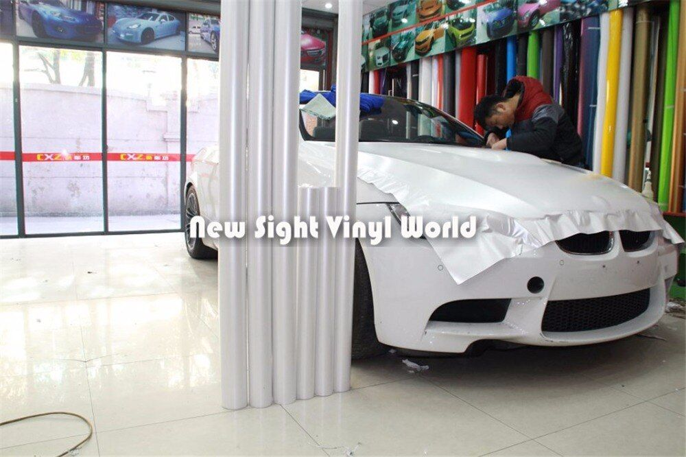 Premium Matte Satin Ceramic White Vinyl Wrapping Film Folie Air Free For Car Sticker