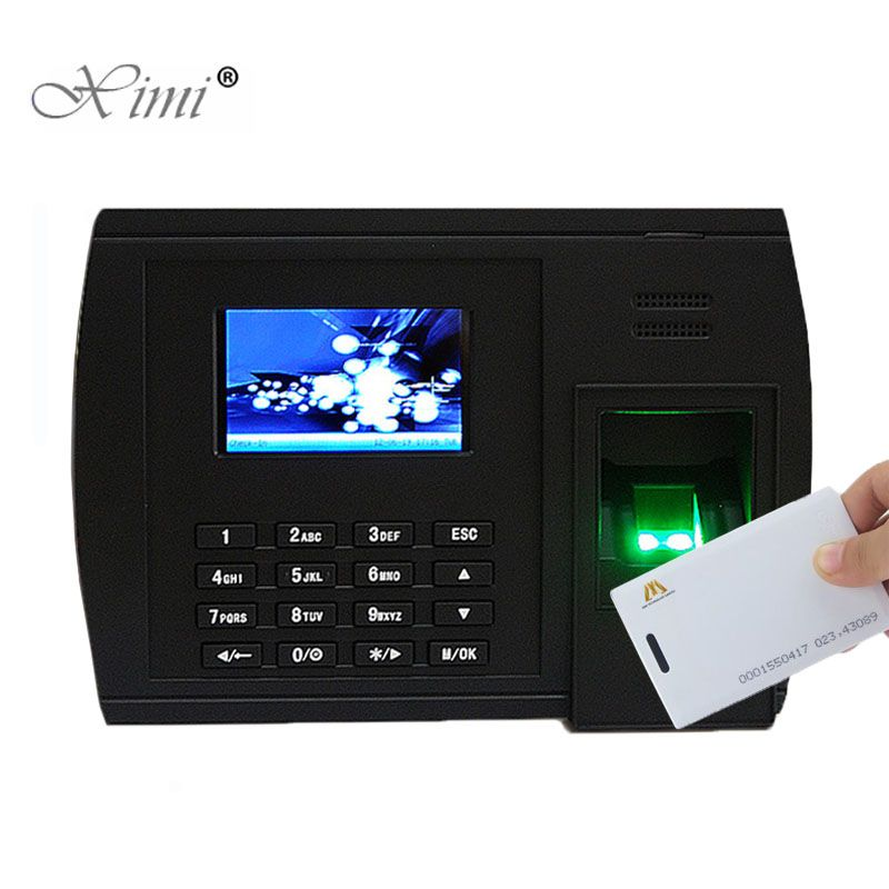 Biometric Fingerprint And RFID Card Time Attendance Terminal Linux System TCP/IP USB Fingerprint Time Clock Employee Attendance