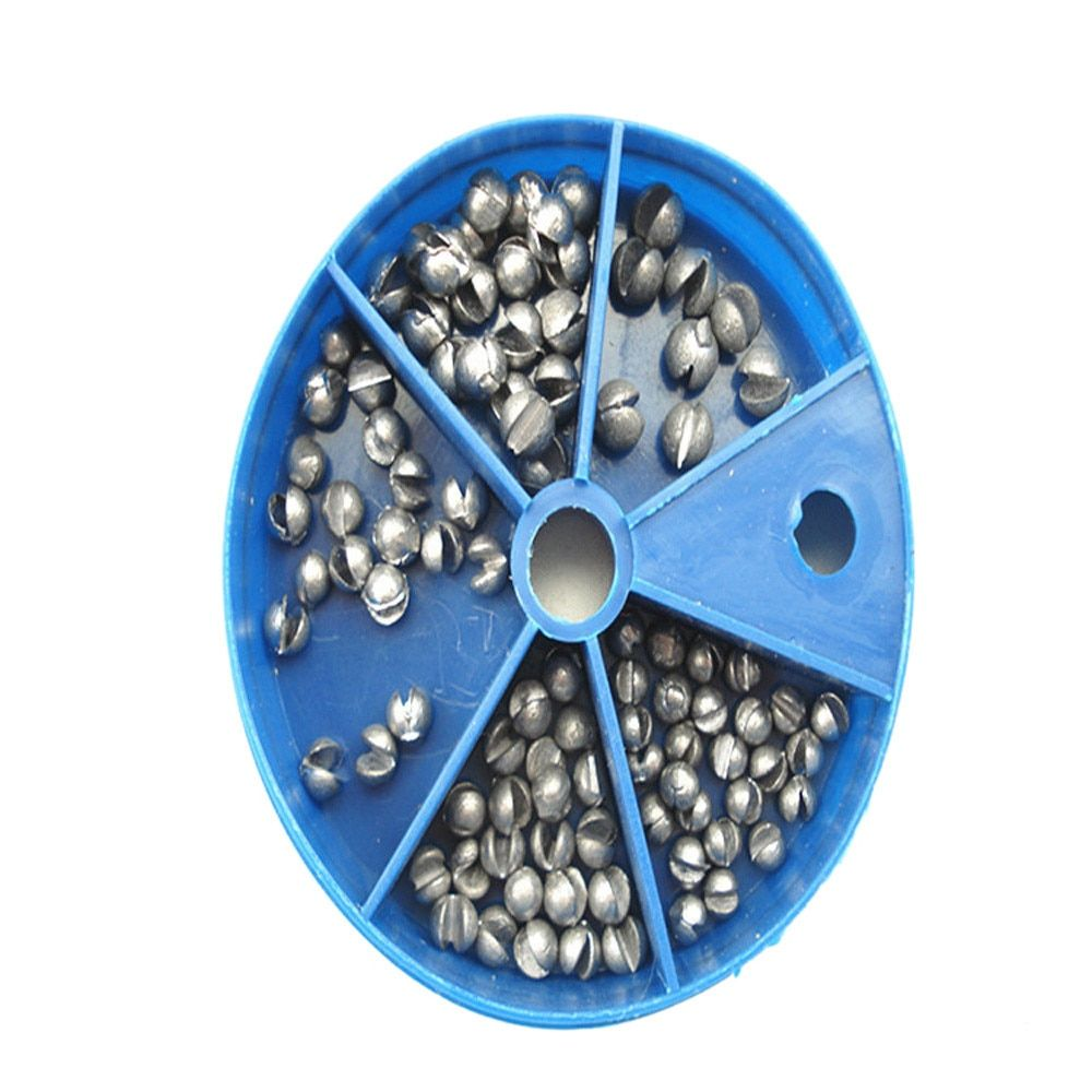 Hot sale Fishing Egg Bullet Rig Sinkers Angling Lead Weight Split Shot Box five models not easily deformed Free shiping