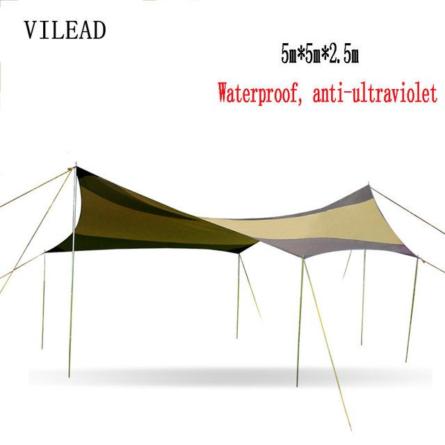 VILEAD 5*5 Car Sun Shelter Outdoor Pergola Anti-Canopy Awning Sun Shade Super Lightweight Camping Tent Yard Rainshed Shed Arbor