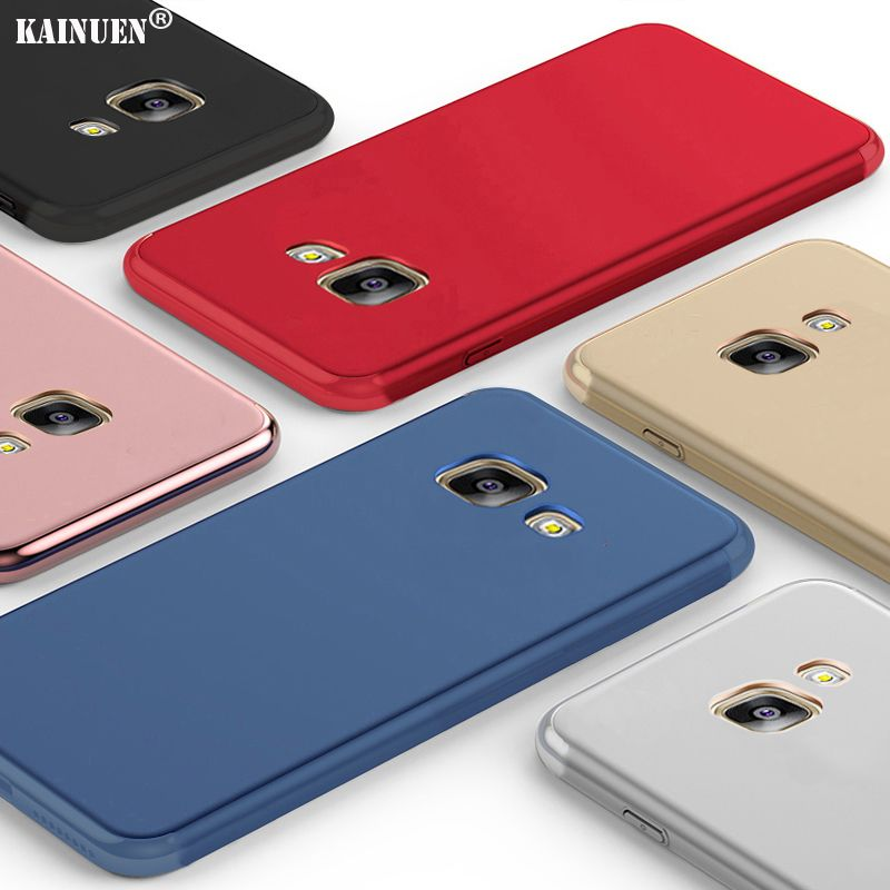 KaNuEn Coque,Cover,Case for Samsung Galaxy A 5 a5 2015 / A5 2016 / A5 2017 Silicon phone Silicone 3d Luxury soft back gold Etui