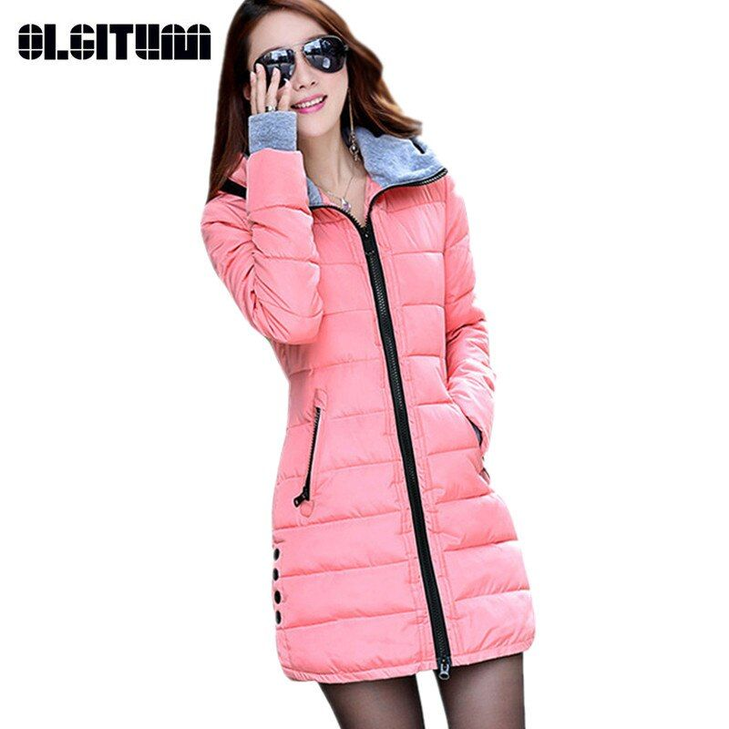 2018 New Women's Winter Fashion jacket Down Cotton Outwear Jacket Slim Parkas Ladies Coat Plus Size M-3XL CC276