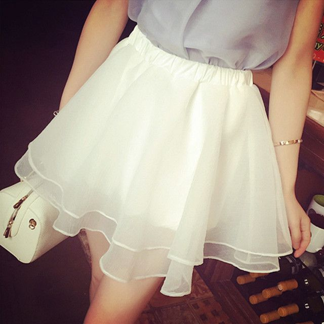 2016 Hot sale women short skirt puff skirt sexy lace basic half-length skirt Ball Mini Skirt