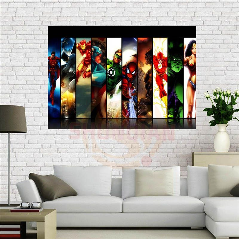 Custom canvas poster Fantasy&Comics Super Hero Poster 50x75 cm Home Decoration cloth fabric wall poster print Silk Fabric