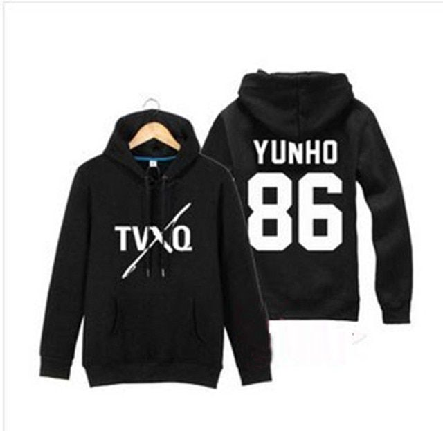 2017 TVXQ sweatshirt same style Jung Yunho Shim Changmin Autumn And Winter Men and women Hooded jacket hedging D061