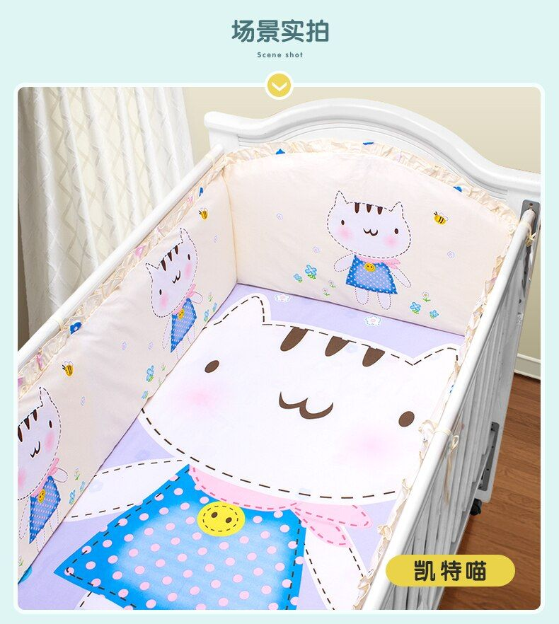 Promotion! 5PCS Baby Crib Bedding Bumpers Sets for Sale,Baby Bedding Set,(4bumpers+sheet)