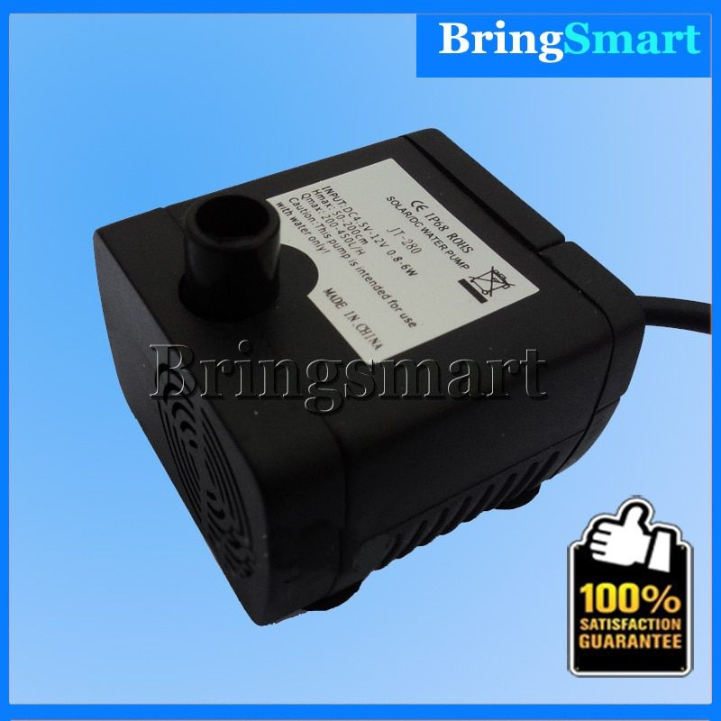 Free shipping JT-280 12V Heat Fountain Water Pump Submersible Pumps,Mini Small brushless DC pumps 400L/H Flow Rate