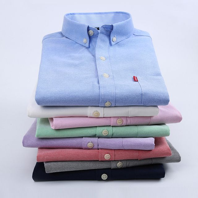 Oxford Silk Cloth Slim Male Short-Sleeve Shirt Easy Care Casual Blouses Male Plus Size Formal Business Camisa Social
