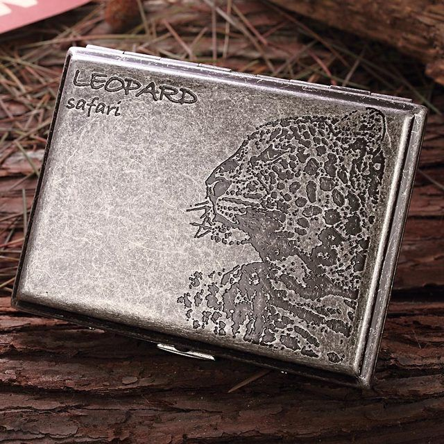 Fake something antique Etching copper Catamount Cigarette case 20 pcs Durable Personality smoking tools