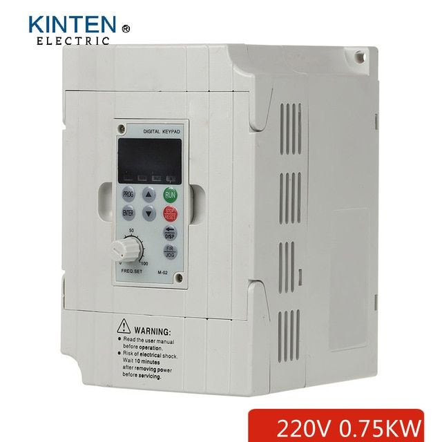 0.75KW Single Phase 220V 4A Frequency Inverter Vector Control 3 Phase Output Frequency Inverter VFD
