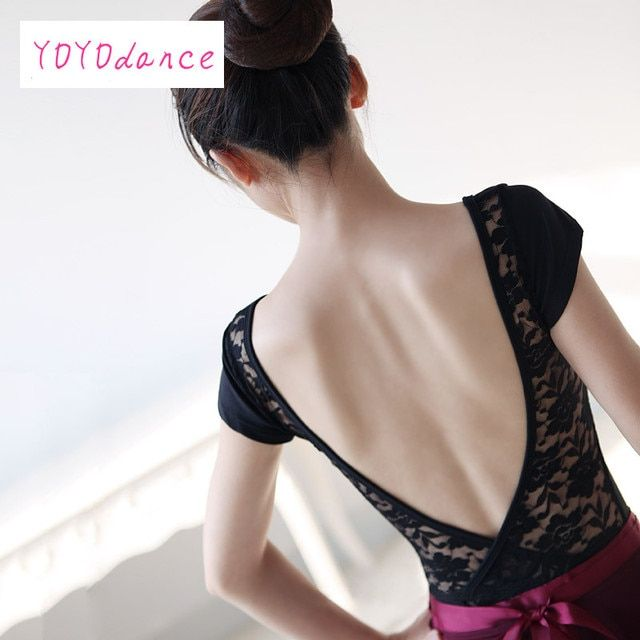 Women Ballets Costume tight Dance Wear Backless Bodysuit Female Leotard Clothing Lace Black Purple Burgundy Dk blue 3205