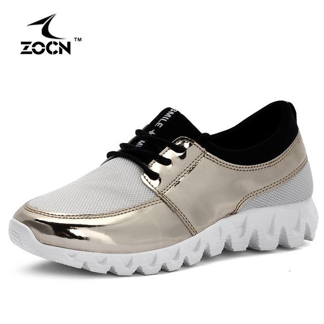 ZOCN New High Quality Cheap Women Casual Shoes Rubber 2016 Gold Silver Mesh Woman Breathable Fashion Summer Shoes Zapatos Mujer
