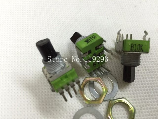 [BELLA]taiwan ALPHA potentiometer RK11K Series legs with a gong sound dental instruments  B10K Potentiometer-50PCS