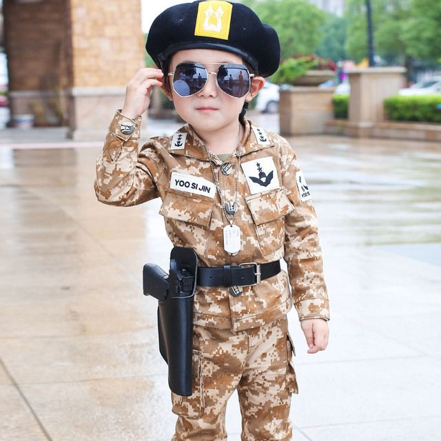 Spring Fall Little Boys Fashion Camouflage Clothing Set Baby Kid Military Uniform Clothes Jacket Pants 2 pcs Set