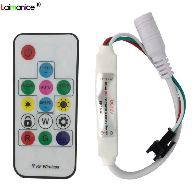 Mini 14Key RGB Controller 300 kinds of changes Wireless RF Remote Control for DC 5V 12V WS2811 WS2812 WS2812B LED Strip light