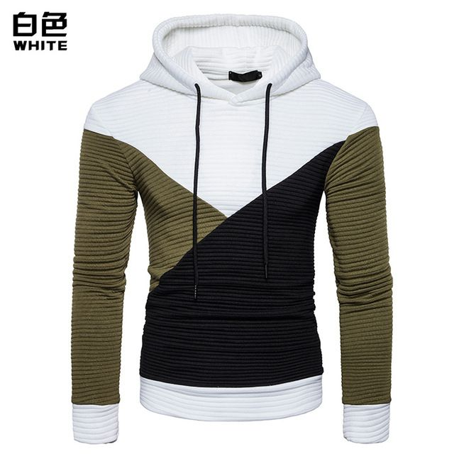 fashion Casual Hit color irregular Splice Men Autumn And Winter The New Hooded Sweatshi unity arno hoodie shade with 5 interchan
