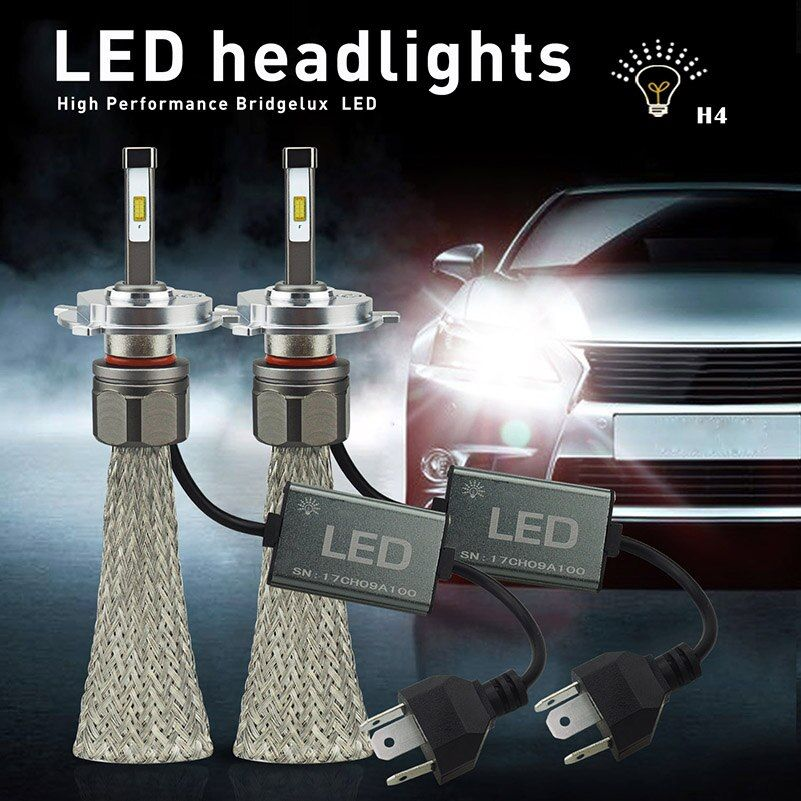 2x Canbus Headlights H4 H7 H8 H9 H11 9006 9012 LED  80W 10800LM Headlamp For Ford Focus 2 3 fiesta kuge Chevrolet cruze Cadillac
