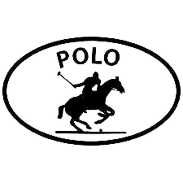 16CM*9.8CM Polo Horse Sport Oval Car Window Sticker Decals Motorcycle Car Styling Accessories In Black Sliver C8-0175