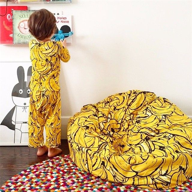 INS Kids Children Super Comfortable Sofa Lazy Banana Bean Bag Filling Sofa Chair BeanBag Photography Toys Bed Room Decor