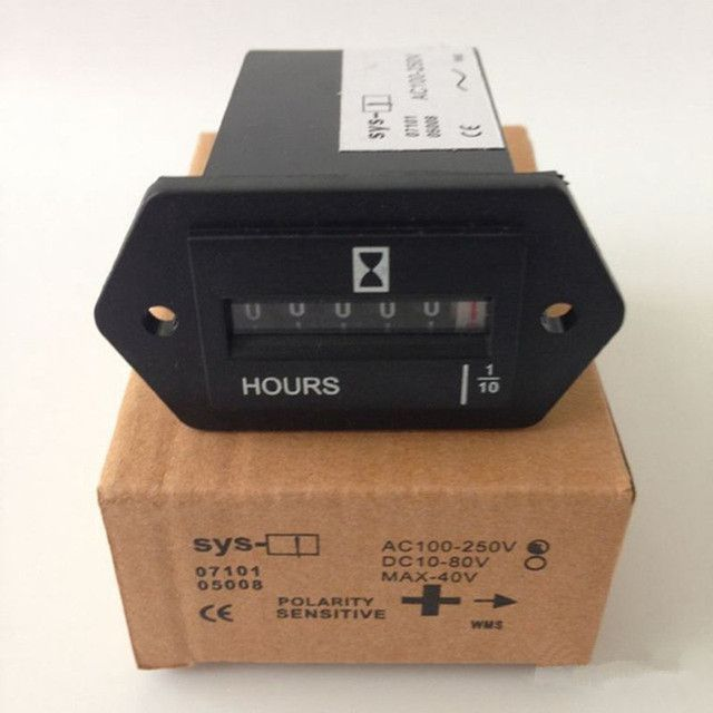 10PCS SYS-1 AC100-250V Electromechanical Hour Meter Counter