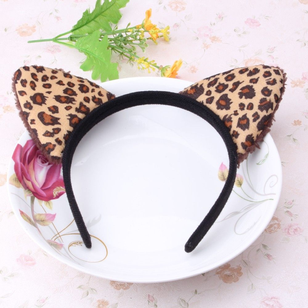 New Sexy Leopard Cat Ear Hair Band Children Plush Headband Headwear Party Prom Women Girl Hair Accessories Girls Hair Hoop