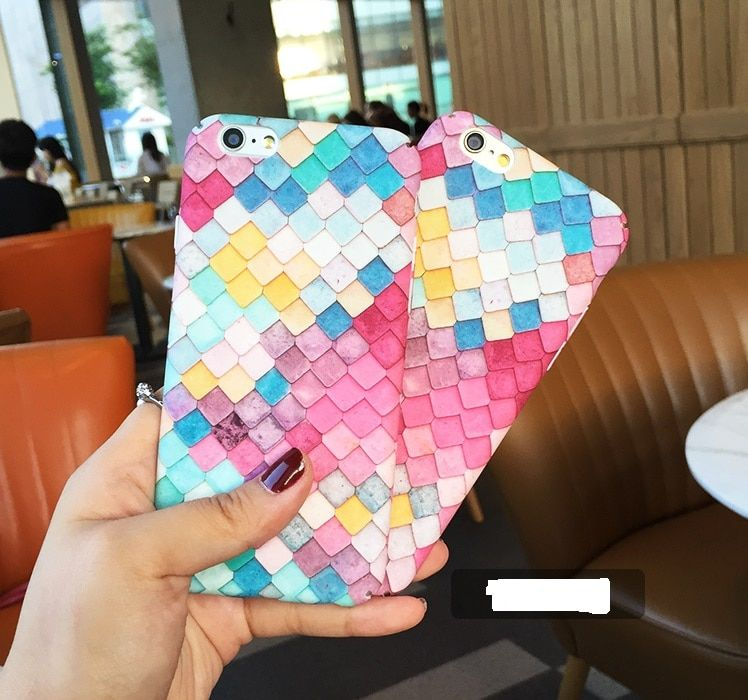 10% off buy 2pcs Cute Lovely Pink Scale Mermaid Sea-Maid 360 Full Protive Case Cover for iPhone 6 6S/6Plus 7 7Plus