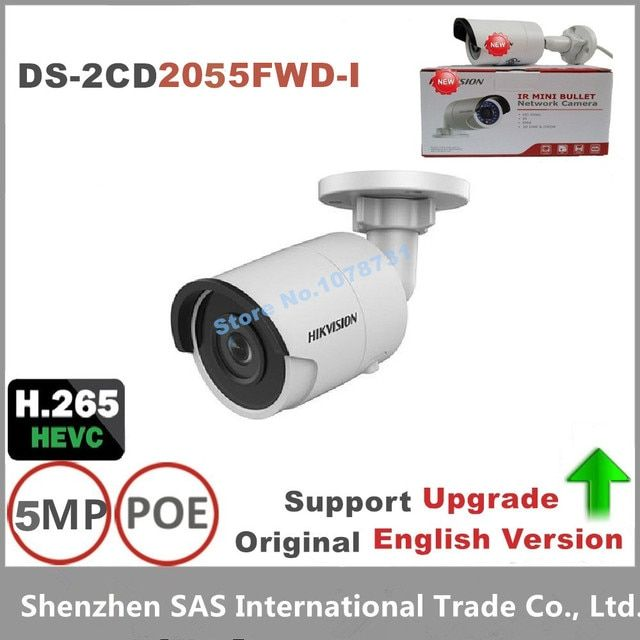 Hikvision 5MP IP Camera DS-2CD2055FWD-I replace DS-2CD2055-I Network Bullet Camera Support on-board storage