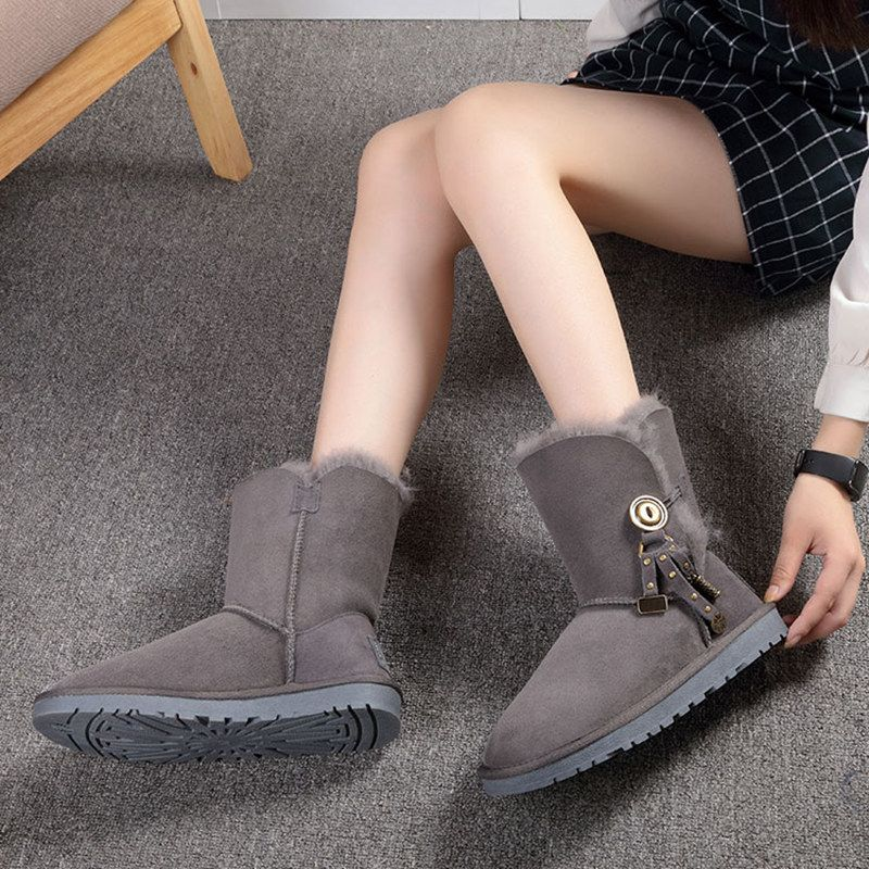 High quality Snow Boots Australia 100% natural leather leather boots, women's boots, wholesale and retail