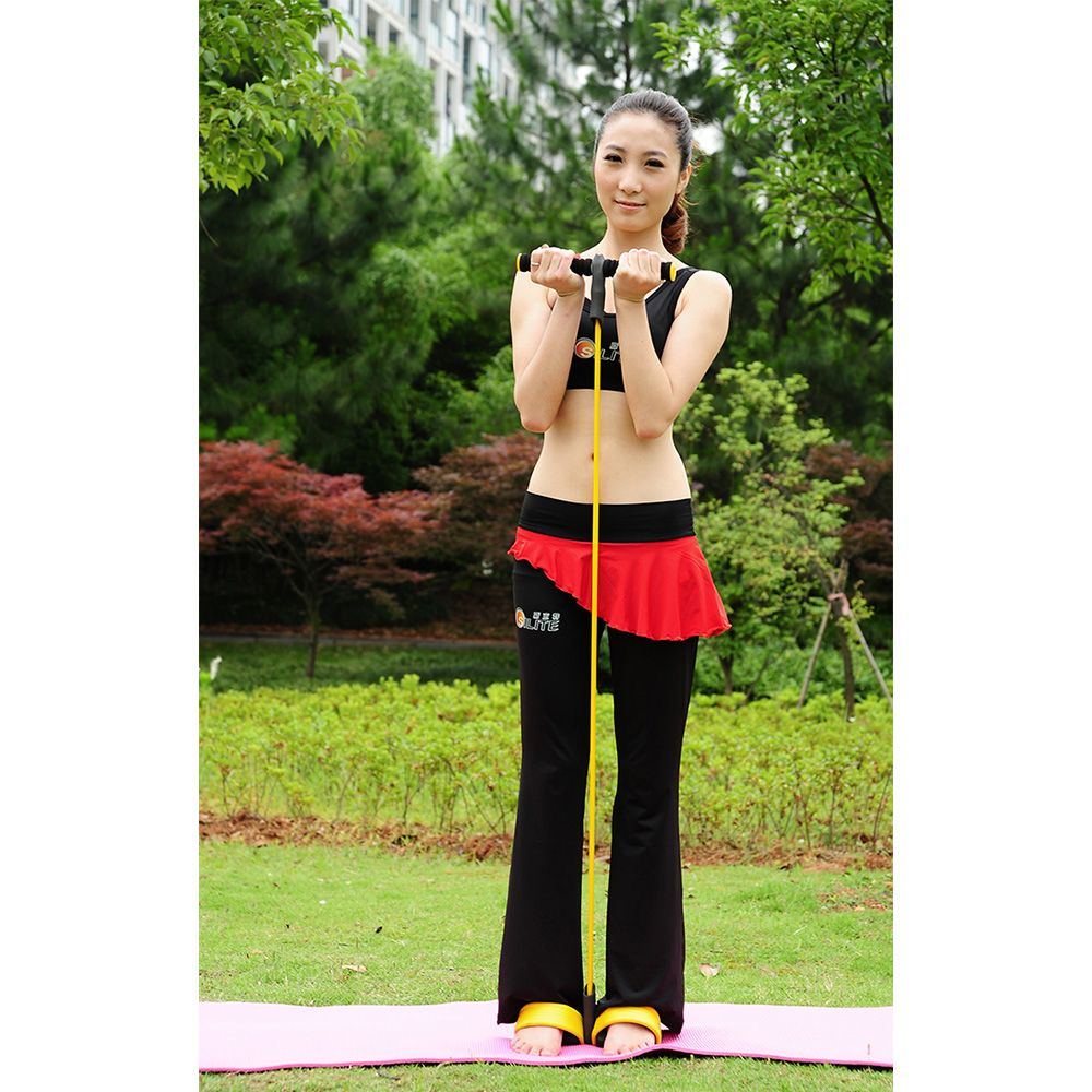 2016 New Fitness Exercise Pull Rope Rope Set Elastic Training Exercisers Equipment ON TV Pilates Resistance Bands Equipment